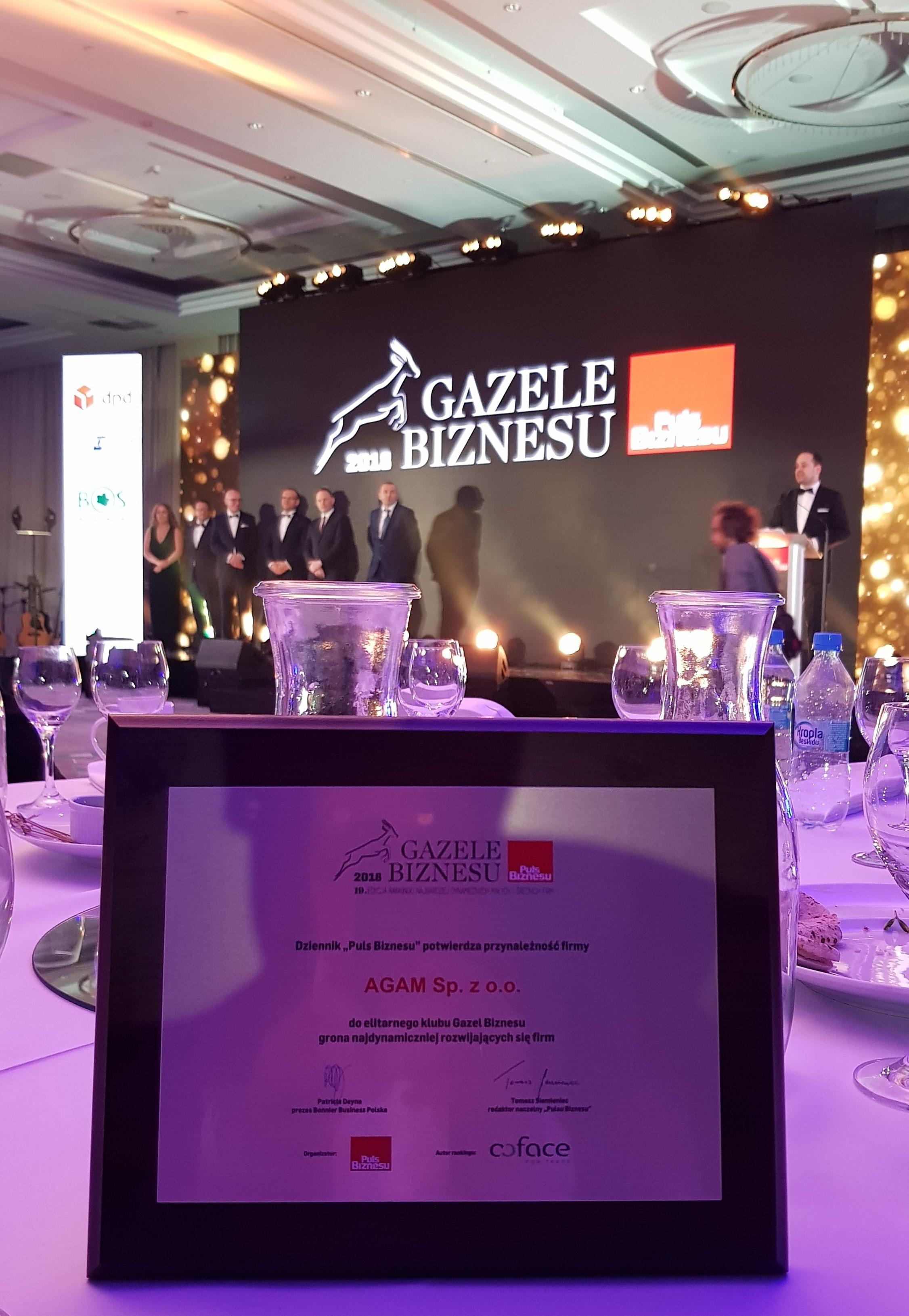 AGAM Gazela Biznesu 2018